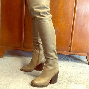 ALDO over the knee greenish gray boots